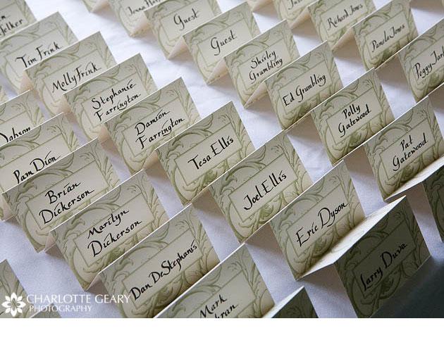 tarjeta para marcar mesas de bodas