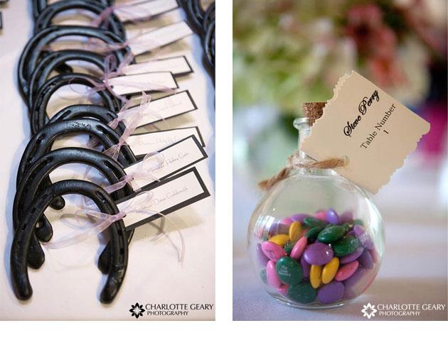 tarjetas para marcar las mesas en el banquete de bodas