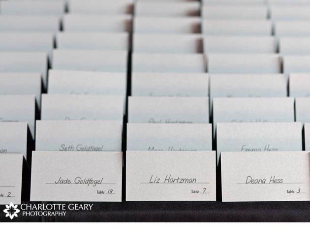 tarjetas para marcar las mesas en los banquetes de bodas