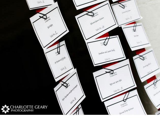 tarjetas para sentar a los invitados