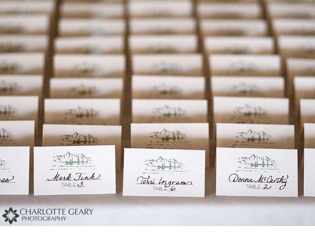 tarjetas para sentar a los invitados a tu boda