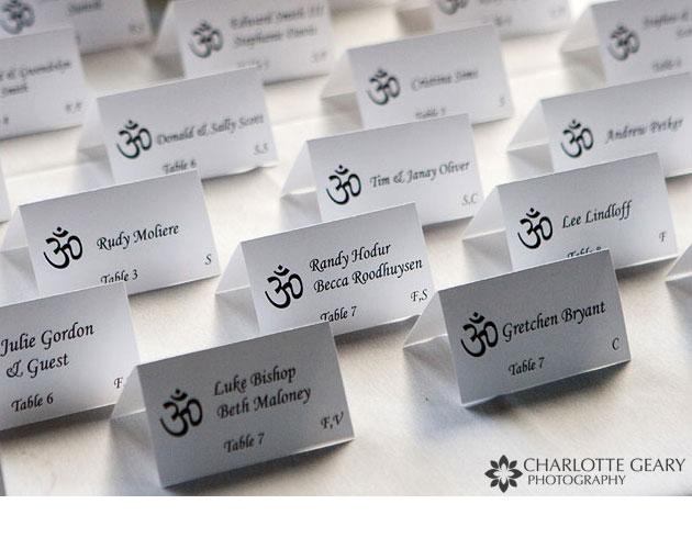 tarjetas para sentar a los invitados a tu boda.