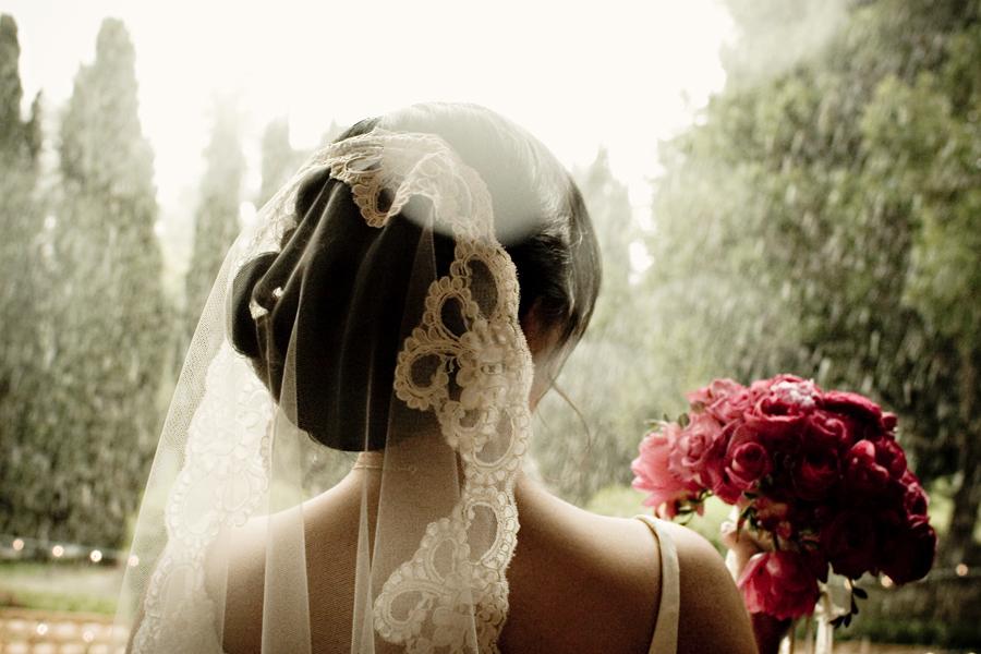 La mantilla en las bodas