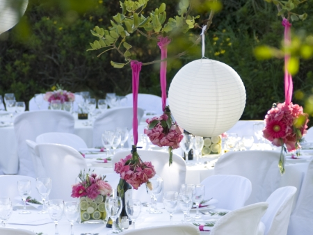 Decoración floral en las bodas
