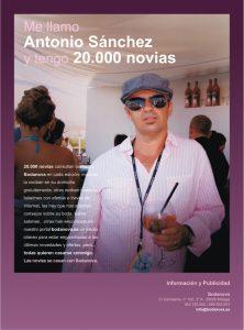 Me llamo Antonio Sánchez y tengo 20.000 novias. Año 2010