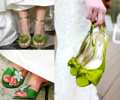Color en tus zapatos de bodas