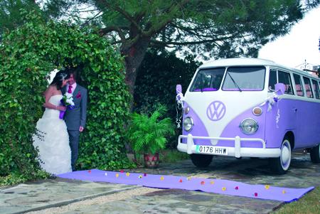 Furgoneta hippie para bodas