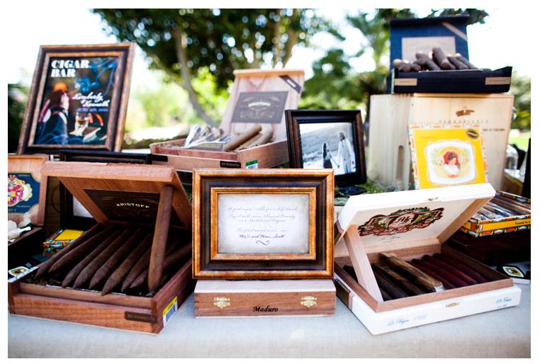 Barra de cigarros y puros para bodas