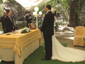 En Jardin Botanico la concepcion Malaga la boda de 12